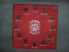 VINTAGE ADVERTISING  MAC TOOLS Distributor SIGN Wrenches DISPLAY Wood Used Rare