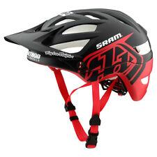 Troy Lee Designs A1 Mips Classic Bicycle Helmet Black-Red/Gray-Bourbon BMX/MTB