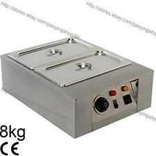 8kg Commercial Electric Chocolate Melter Warmer Temperer Boiler W/2 Melting Pots