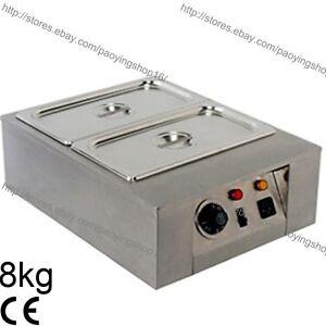 8kg Commercial Electric Chocolate Melter Warmer Temperer Boiler W/2 Melting Pots