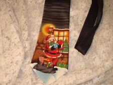 Santa With Presents Christmas Necktie Classic Length Wide Neck Tie Holiday