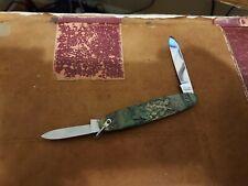 Vintage Pocket Knife - Arnex / Inox - Solingen Germany -Brass with Hunter & Dog