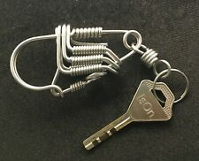 Handmade Stainless Steel Keychains Key ring Key chain Holder with Snap Hook 2