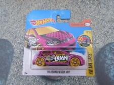 Hot Wheels 2017 #111/365 Volkswagen Vw Golf Mk7 ROSA HW Arte CARS