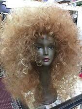 SIN CITY WIGS SALE! BIG HAIR TEASED BOLD AFRO CURLS VOLUME FROSTED BROWN BLONDE