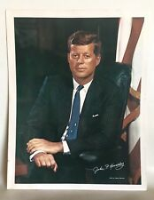 "JFK John F. Kennedy Portrait Photo Print Fabian Bachrach Color 11"" X 14"""