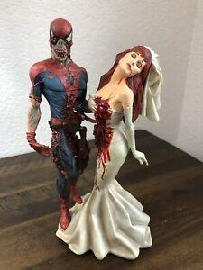 MARVEL MILESTONES ZOMBIE SPIDER-MAN & MARY JANE WEDDING STATUE MIB #1031/2500