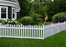 """Zippity Outdoor Products ZP19002 No Dig Fence Newport 36""""H x 72""""W White"""