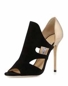 New Black/Gold Jimmy Choo Toysen d'Orsay Leather Bootie Size 6.5US or 36.5 $895+