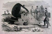 Leslie Civil War Print - Federal  Thirteen Inch Shell Mortar - Canon Armaments