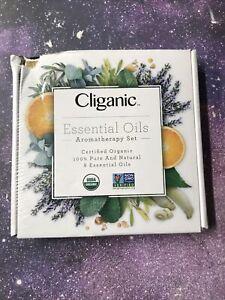 Cliganic USDA Organic Aromatherapy Essential Oils Set (Top 8), 100% Pure