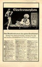 Grammophon Electromophon Reklame 1922 Vaihingen 1001 Nacht Pascha Tänzerin