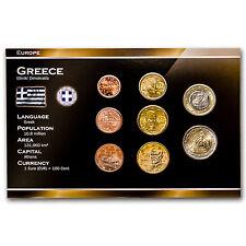 2002 Greece 8-Coin Euro Set - SKU #34947