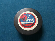 "WHA VINTAGE WINNIPEG JETS PUCK ""OFFICIAL ""OFFICIEL"" Canada - World Hockey Assoc."