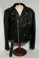 Mens Wilson Leather Motorcycle Biker American Eagle Jacket Zip Up Sz XL