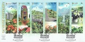 SINGAPORE 2021 SKYRISE GREENERY URBAN LANDSCAPE FIRST DAY COVER OF SET 6 STAMPS