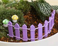 Purple Fence Wooden Fairy Garden/Micro/Dollhouse/Bonsai