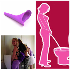 Portable Silicone Female Women Camping Travel stand up pee Urinal toilet