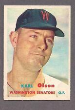 1957 Topps #153 Karl Olson, Washington Senators