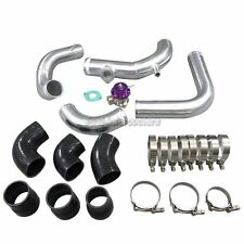 "CXRacing 2.5"" Intercooler Piping Kit +BOV For RB20 RB25DET S13 S14 240SX Skyline"