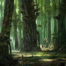 Mysterious woods 10'x10' CP Backdrop Computer printed Scenic Background ZJZ-913