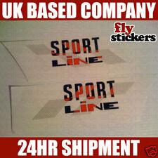 "Mk1 Golf Cabriolet Foil Sticker Decal ""Sportline"" Red"