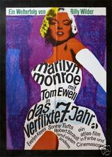 7 SEVEN YEAR ITCH * GERMAN MOVIE POSTER MARILYN MONROE