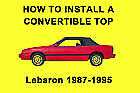 Chrysler Lebaron 87-95 How to Install a Convertible Top DIY Video on DVD