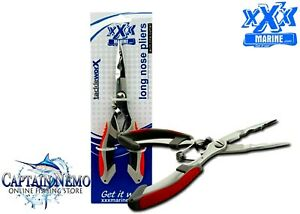 XXX MARINE STAINLESS STEEL LONG NOSE FISHING TOOL CUTTER TACKLE PLIERS FT2