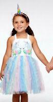 NEW  Halabaloo Beautiful Blue Pink Tulle Girls Dress Twin Unicorns 6x 7 10