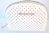 100% AUTHENTIC MICHAEL KORS WHITE POLKA ZIPPERED COSMETIC CASE MAKEUP BAG BR NEW