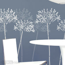 Agapanthus Flower Wall STENCIL Home Decor Large Wall Stencils for painting 10001