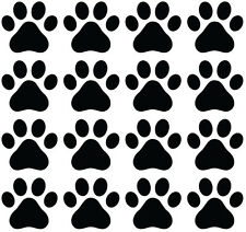 "TP -  Small Dog Paw Prints - Pawprint Vinyl Decal ©YYDC (2.25""w x 2""h)"