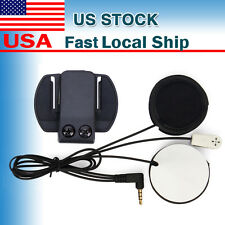 Mic Earphone Speaker Headset + Bracket for Helmet Bluetooth Intercom BT V6 1200m