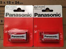 2 X Single Pack Panasonic  9V Size Batteries (2 Pcs) 2nd Class Del