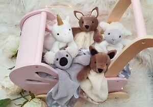 Petite Vous Baby Comfort Security Blanket - Koala, Kangaroo, Unicorn, Lamb, Deer