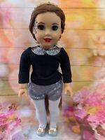 OOAK American Girl Doll Long Brown Straight Hair Brown Eyes Dancer Custom