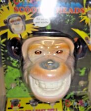 NIP! Scooter Heads By It's Outrageous Monkey Ape Character Novelty Topper Face
