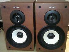 Sony 2 Way Bookshelf Speakers Model SS-CSPZ50 Rated at 6 ohm, 40 watt max input