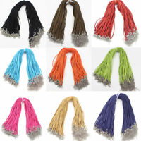 Wholesale 10pcs Velvet Leather Cord String Necklace Jewelry Craft 450mm DIY