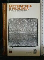 LETTERATURA E FILOLOGIA. AA.VV. Zanichelli.
