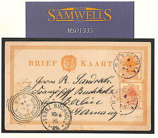 MS1335 1895 South Africa OFS POSTAL STATIONERY Card *Bethanie*PURPLE CDS Germany