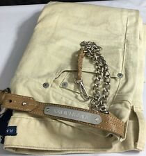 Ralph Lauren Polo Blue Label Jeans Removable Leather Key Chain Womens 28 Tan New