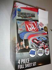 New 4-pc. Warner Bros DC Comics Justice League 4-pc. FULL size sheet set