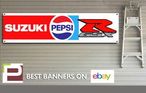 SUZUKI GSXR Pepsi Racing BANNER for GARAGE, WORKSHOP, Man Cave, GSXR etc