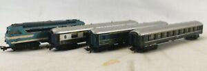 LIMA Locomotive Diesel 67001 + 3 Voitures Voyageurs echelle N Salon Pullman T
