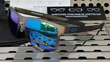 New Oakley HOLBROOK Mtl 4123-0755 Sunglasses Gunmetal w/Prizm Sapphire Polarized