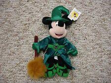 "New listing Disney World Minnie Mouse Halloween 2001 Witch w/ Broom 9"" Bean Bag Plush (New)"