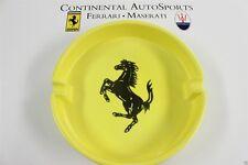 "Authentic Ferrari Large 9.5"" Yellow Ceramic Ashtray 95991642"