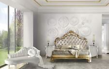 Luxus Schlafzimmer Set 4tlg. Bett + 2x Nachttisch + Chaiselongue Design Liege